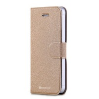 Luxury book style flip leather case for iphone 5c mobile phone