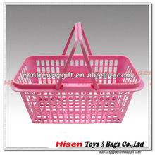 plastic rectangular laundry handle portable basket