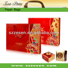 2014 New style Customized gift paper bag for Mooncake packaging