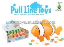 pull line swimming fish candy toys