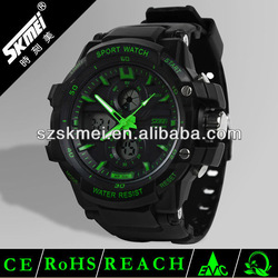 dual time zone men big colorful watch sport outdoor best products