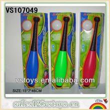 Plastic toy baseball bat with sound flash baseball toy