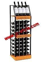 good quality folding liquor bottle display shelf/metal wine tower/wine shop beer shelf display rack for promotion