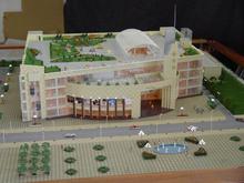 Pretty New World Shopping Center Rendering/Visualization/Modeling, Exterior Landscape Design scale model maker