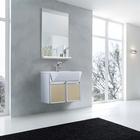 Fridge style bathroom cabinet and glass basin PM600A