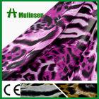 Soft Printing Woven ITY Chiffon Pink Leopard Fabric