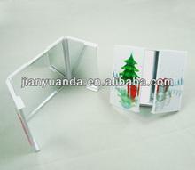 Plastic pocket&desktop cosmetic mirro for femal