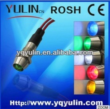 Wenzhou FILN FL1-025 red Lamp metal 8mm DC 36V led indicator signal light bulb with wire
