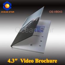 4.3 inch 2013 hot sale brochure lcd video brochure card