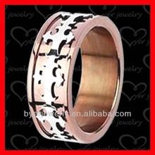 rose gold titanium rings mens jewelry