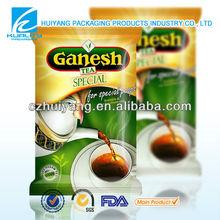 food safty grade plastic stand up instant tea tea bag milk tea