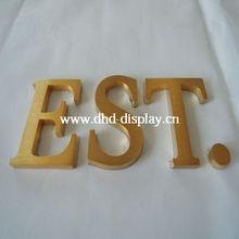 gold plating letter design for hotel letter sign frame