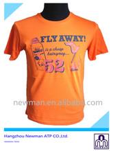 New design fashion summer O-neck man cloth print short sleeve round neck t-shirt