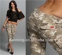 ladies army green capri fashion pants