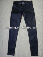 ladies blue coating pants jeans