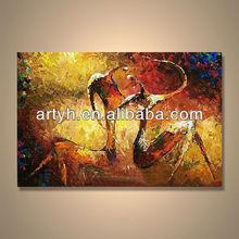 Popular handmade home decor handmade oil painting skill