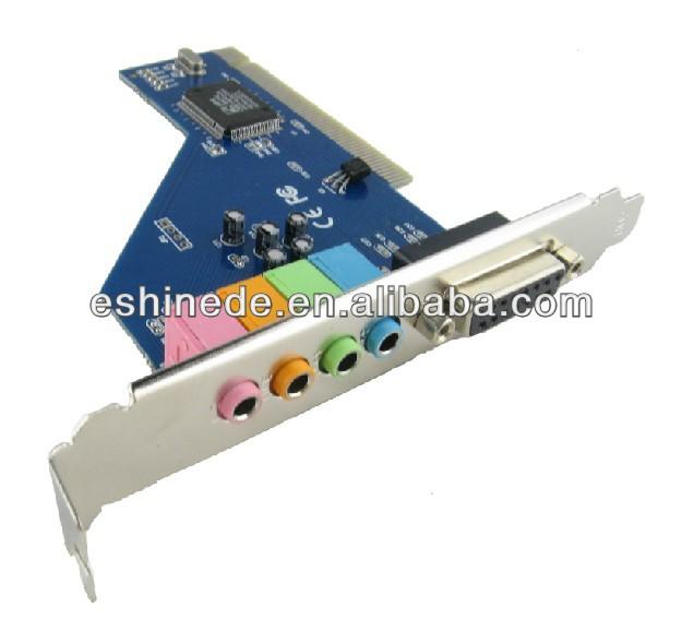 New CMI8738 4 Ch 3D PCI Surround Sound Card MIDI Audio Stereo Game Port 64-bit