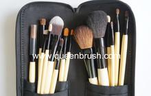 18pcs natural hair make up brush set professional high quality