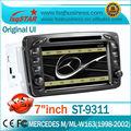 Estéreo del coche Mercedes E W210 Mercedes C-W203 Mercedes A-W168 WwithDVD / Bluetooth / Radio / TV / GPS sistema de navegación / canbus
