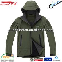 Lightweight 10000mm waterproof breathable hiking softshell jacket men
