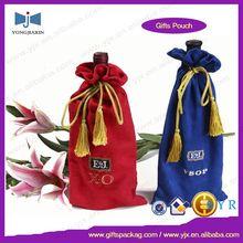 Velvet wine bottle drawstring bag