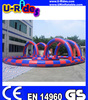Zorb ball inflatable race track in pink color