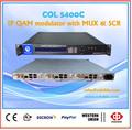 De gran alcance aii-in-one ip modulador qam mux- revolver- modulante, hdmi dvb-c modulador, televisión por cable digital modulador rf col5400c