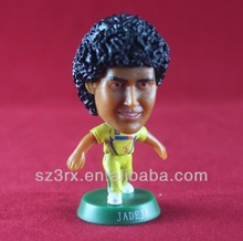 Custom football player figure/Small football star figure toy