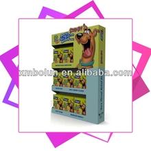 Pet store 3 tiers cardboard counter display box
