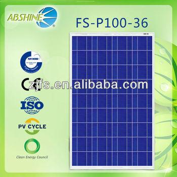 Best price per watt evacuated solar panels of FS-P100-36