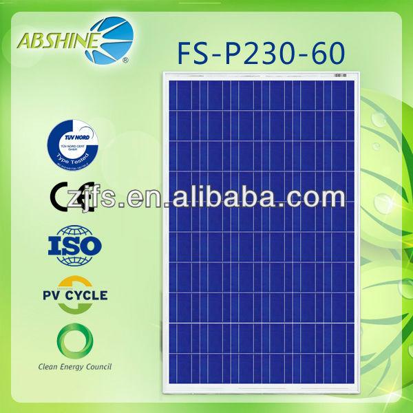 Best price per watt evacuated solar panels of FS-P230-36