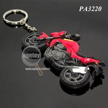 PVC Motorcycle Soft Keychain