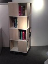 free revolving bookcase/circular steel feet