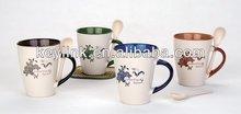 2014 most popular handle c porcelain mug
