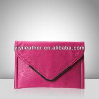 V581-latest envelope purse bag, lady clutch bag, make your own handbag