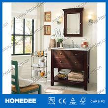 Floor-standing rubber wood modern bathroom furniture