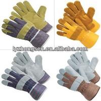buffalo leather work gloves,working waterproof winter glove ,sheepskin leather work gloves
