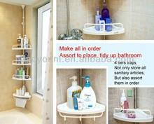 BAOYOUNI triangular corner shelf vertical storage rack prefab bathroom DQ-601D