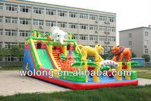 2013 hot sale inflatable toboggan slide / inflatable dry slide