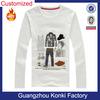 Custom Logo White Cotton T Shirt for Ladies