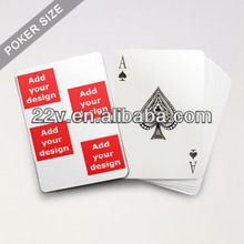 Collage Family playing cards - Four Images In White Background