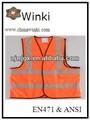 negro tuberías de chalecos de seguridad para la mujer y el hombre