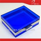 6 x 5 inches - Blue acrylic transparent bag clutch evening bag