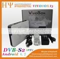 Vivobox i3 android 4.2 aml8726-mx dual core caixa de tv player de mídia online serpentina caixa smart tv +dvb- s2 receptor de satélite