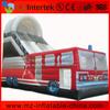 2014 sales fire engine inflatable slide