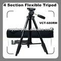 Yunteng vct - 680rm appareil photo numérique et caméscope 4 Section trépied Flexible avec sac de transport ( noir )