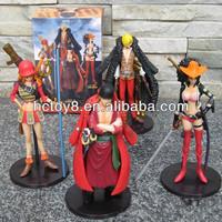 Wholesale cartoon ONE PIECE character Nami+Zoro+Sanji+Nico Robin pvc action figure