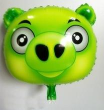 Green Pig Cartoon Mylar Balloon Wholesale Toys Gift Balloon