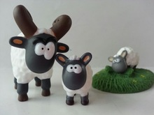 pvc vinyl toys plastic ram lamb and eating grass toys