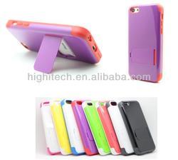 For Apple iPhone 5C Kickstand Hybrid Hard Plastic Case